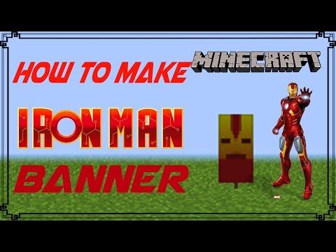 Minecraft | How to make Ironman Banner | Mangoman