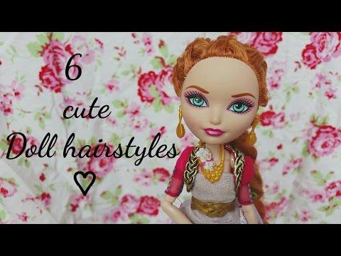 6 cute doll hairstyles || DIY