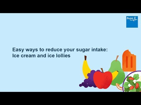 Easy ways to reduce your sugar intake: Ice cream and ice lollies