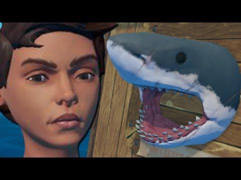 Angry Raft Lady Gets REVENGE on Shark! (Raft Gameplay)