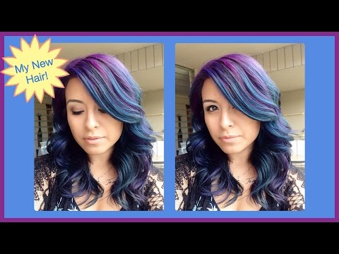 How I Color My Hair Blue and Purple: Full Tutorial! | ChromaCrowns