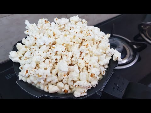 BUTTER Theatre-Style Popcorn At Home I Popcorn on stove I Popcorn in pressure cooker