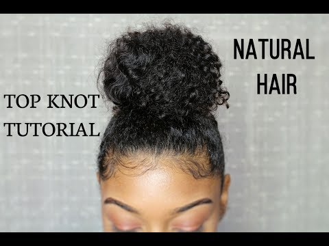 Top Knot Bun Tutorial on Thick Natural Curly Hair ( DETAILED )