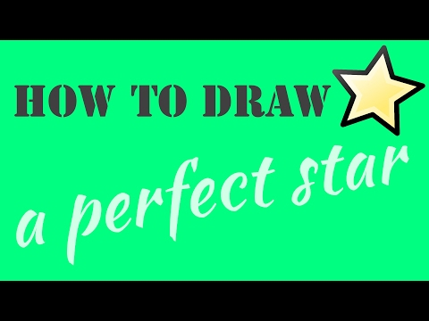 How to Draw 👉╰☆╮a perfect 5-Pointed Star