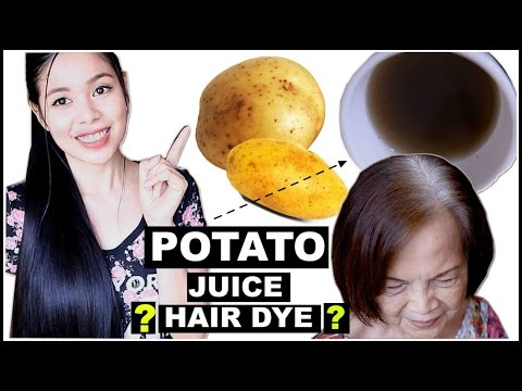 TRY DIY Potato Peel As A Natural Hair Dye- REVERSING GREY HAIR? DOES IT WORK? Ft. My Grandma