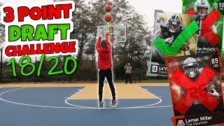 3 POINT BASKETBALL SKILLS DRAFT CHALLENGE!! Madden 19 Draft