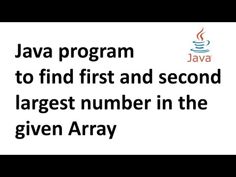 Java program to find first and second largest number in the given Array