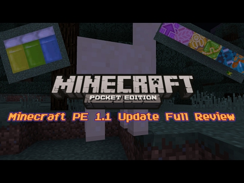Minecraft PE 1.1 Update RELEASED! Full Review!