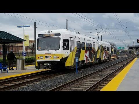 MTA MARYLAND:Light Rail Refurbished LRV #5036 On The Penn-Camden Shuttle FULL RIDE!! To Camden Yards