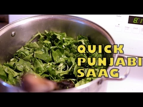 Quick Punjabi Sarson Ka Saag Recipe   Mustard Greens & Spinach