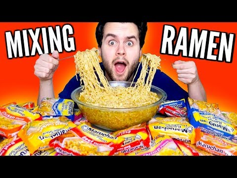 MIXING TOGETHER EVERY RAMEN NOODLES FLAVOR! - Taste Test Experiment!