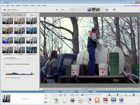 Picasa 8 - Retouch and Sharpen a Picture
