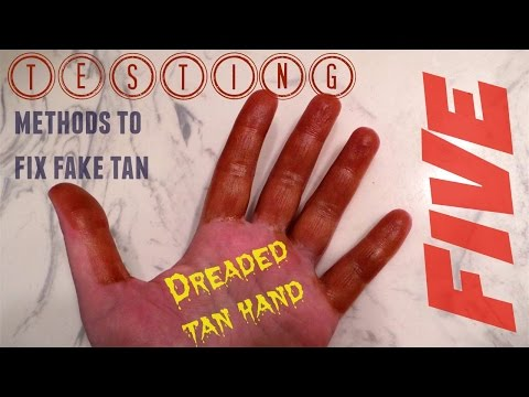 fake tan remover test