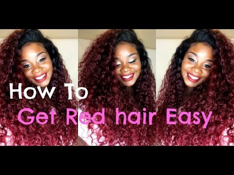 ♥ How to color your Dark Hair RED !