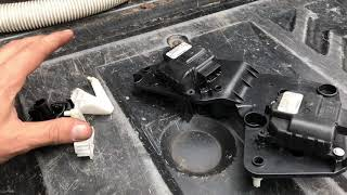 2011 Jeep no AC or heat on one side blend door actuator and