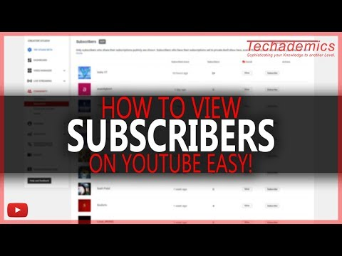 How To View Your Subscribers On YouTube   See Who Is Subscribed To You On YouTube