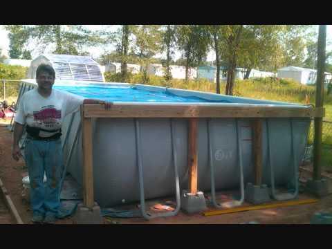 Intex Rectangular Pool with Deck.wmv