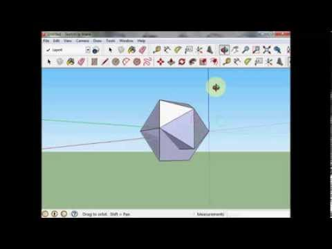 SketchUp Tutorial : the   Icosahedron