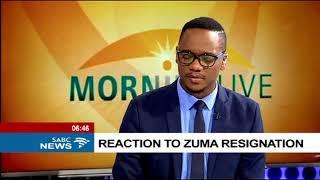 Reaction to Zuma resignation