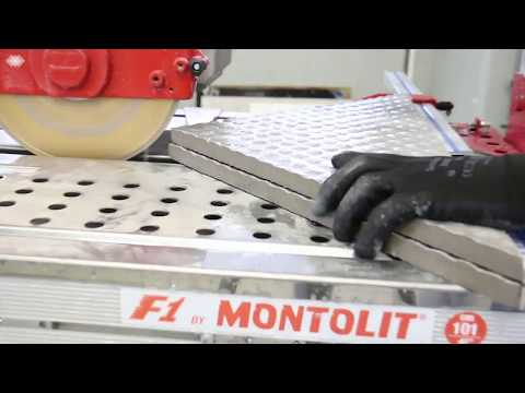 Cutting 4 cm (1.5 Inches) porcelain tiles with SCX250 DNA Montolit diamond blade