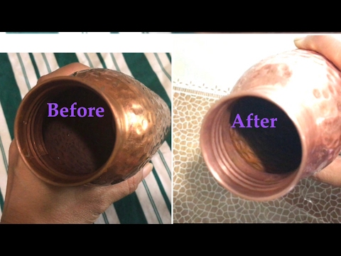 How to clean the Inside of  a Copper Water Bottle