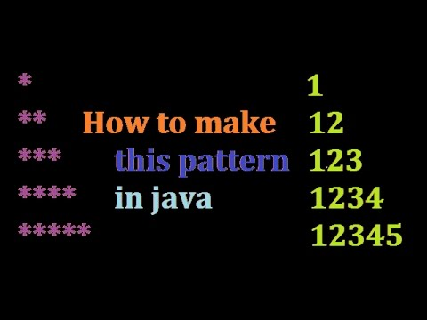 Java program to print patterns of numbers and stars