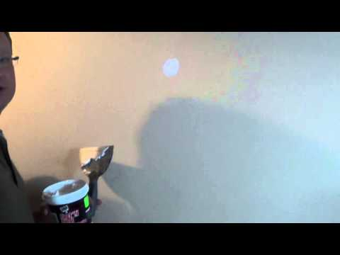 Drywall Hole Repair - How to Patch a Hole - Fix Small Hole in Drywall
