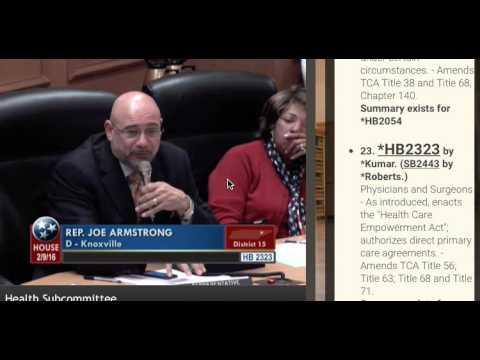 TN Direct Primary Care Bill Debate