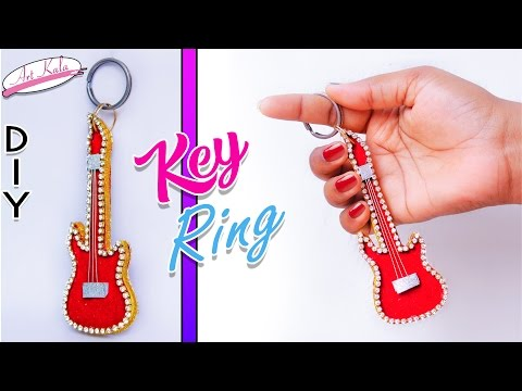 How to make mini guitar key rings | Best out of waste | DIY | Artkala 154