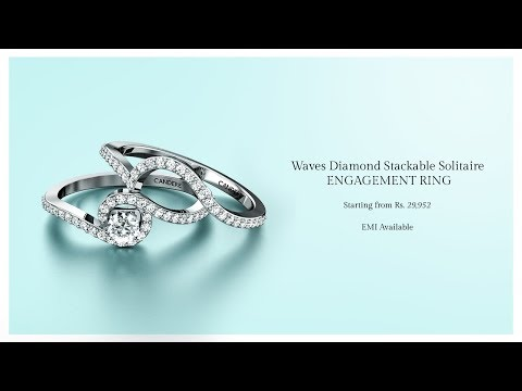 Waves Diamond Stackable Solitaire Engagement Ring | Candere by Kalyan Jewellers