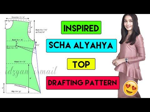 Inspired Scha Alyahya Ruffle Top | Part 1 Drafting Pattern