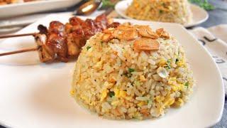 SECRET REVEALED! BEST Garlic Fried Rice 蒜蓉炒饭 SUPER EASY Recipe