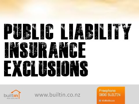 Public Liability Insurance - What You're NOT Covered For