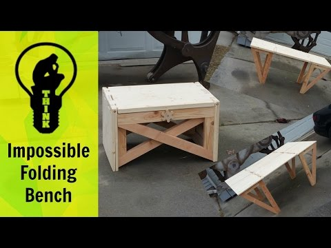 Impossible Folding Bench!