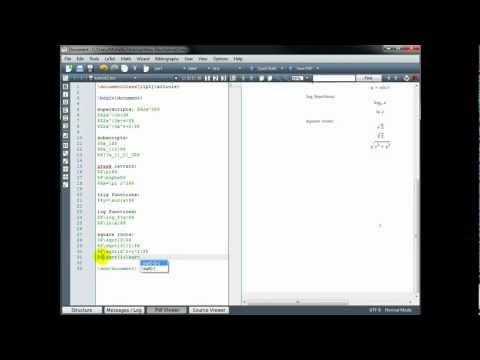 LaTeX Tutorial 2 - Common Math Notation - Part 1/2
