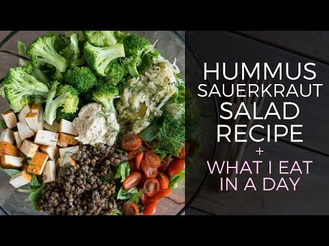 Hummus Sauerkraut Salad Recipe // What I Eat In A Day Vegan