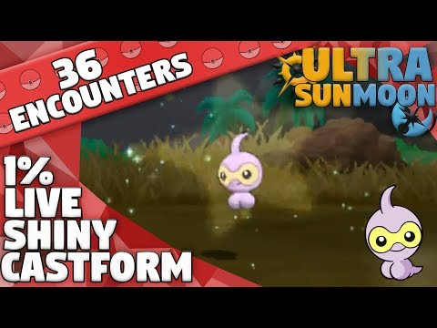 LIVE 1% SHINY Castform! - Pokemon Ultra Sun & Moon (36 SOS Encounters)
