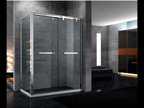 Bypass Shower door with Stainless Steel Frame