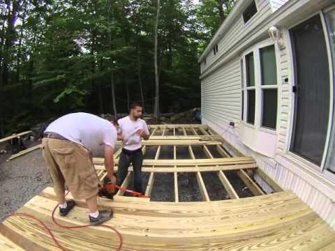 time lapse park model deck build