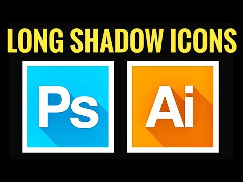 How to make Long Shadow Icons in Photoshop CC, CS6 |  Icon Design in Photoshop