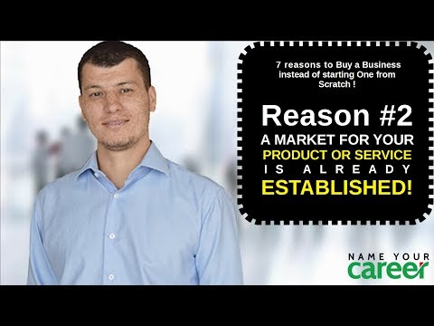 7 reasons to buy a business #2. A MARKET FOR YOUR PRODUCT OR SERVICE IS ALREADY ESTABLISHED!