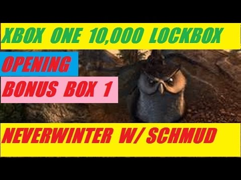 Xbox One 10,000 Lock Box Open Bonus 1 Neverwinter With Schmudthedarth