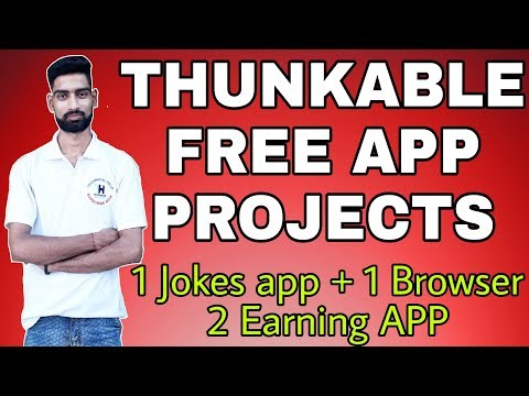 THUNKABLE FREE APP PROJECT 4 ANDROID APP PROJECT FOR YOU MUST WATCH
