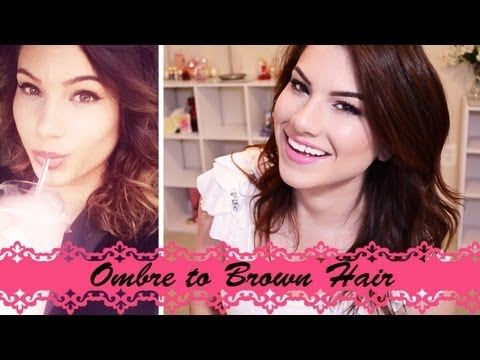 HOW TO: DIY From Ombre to Brown Hair