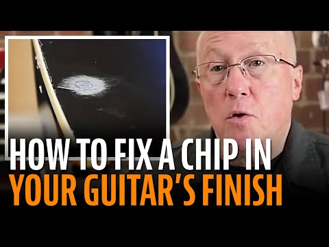 Fixing a small chip in a guitar finish