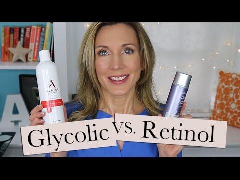 Help for Crepey Body Skin! Retinol Vs Glycolic Lotion