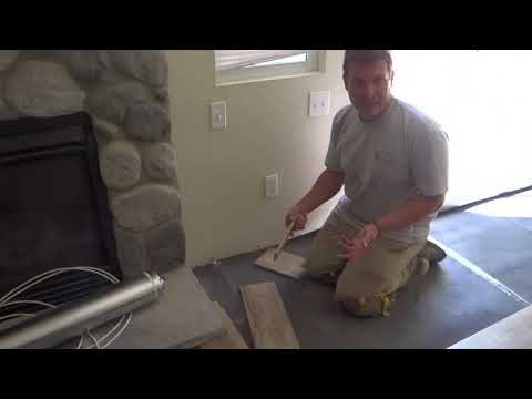 how to install laminate around a stone fireplace
