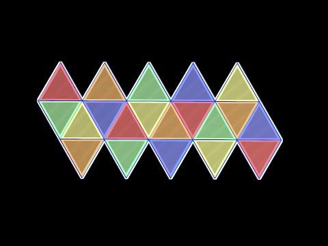 Net of Icosahedron / Розгортка икосаедра / Равёртка икосаэдра