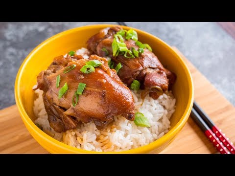 Pressure Cooker Chinese Red Cooked Chicken Thighs