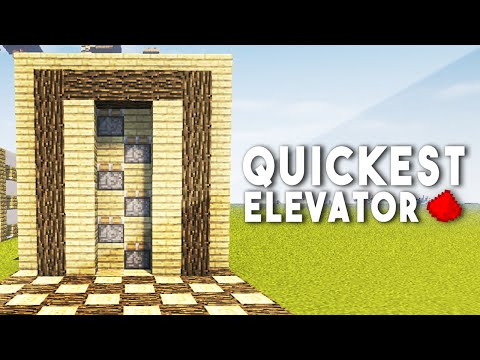 FASTEST REDSTONE ELEVATOR (Unlimited Height) - Minecraft Redstone Tutorial